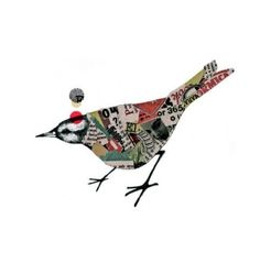collage bird by Mrs D.