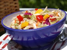 Firecracker Slaw - It's the perfect coleslaw recipe to help you celebrate the 4th of July! Just mix all the ingredients together, chill it for one hour, and you've got a dish everyone at the summer party will love!