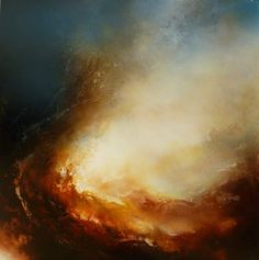"Large Canvas Abstract Oil Painting By Simon Kenny "" At the Point of Creation"""