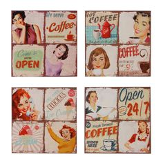 1950s style retro pin-up kitchen home bar pub club restaurant canvas wall decor