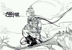 ughhhh I love Character Concept, Character Art, Character Design, The Legend Of Monkey, King Drawing, Monkey Tattoos, King Tattoos, Art Asiatique, Journey To The West