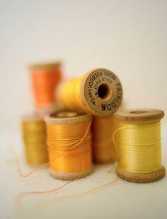 Vintage Yellow Thread
