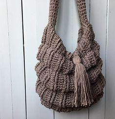 Crochet Boho Bag PATTERN, Slouchy Bag, Handbag Pattern, Tote Bag, Crochet Purse: