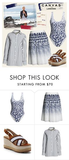 """""""Paint Your Look With Canvas by Lands' End: Contest Entry"""" by bklana ❤ liked on Polyvore featuring Lands' End, Polaroid, Canvas by Lands' End and bklana"""