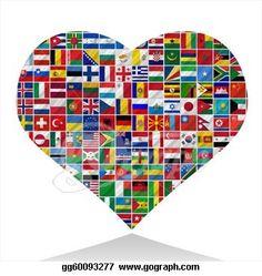 International Flag Heart | world-flags-with-heart_gg60093277