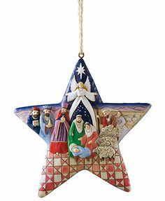 Jim Shore Christmas Ornament, Nativity Star