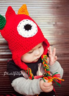 monster crochet hat for boy baby toddler pre by stitchesbystephann, $18.00