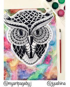 Result! So far my favorite work ☺️ #zentagle #zentagleart #watercolor #art #watercolorart #owl #doodle #doodleart #dubaiart #dubai #uae #myart  #mandala #drawing #mydrawing #mymandaladrawing #like4like #likeforlike #tagsforlikes #hennadesign #hennastyle #doodling #doodleart #doodle #blackandwhite #love #loveart #dubai #mydubai #myuae #world #worldart #design