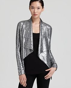 Donna Karan New York Jacket - Sequin Jersey - Shine - Women's Trends - Fall Style Guide: It's On - LOOKBOOKS - Fashion Index - Bloomingdale's