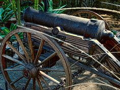 This cannon is a feature at the San Gabriel Mission in California , the cannon was a protective measure against any would be attacks from neighboring Indians