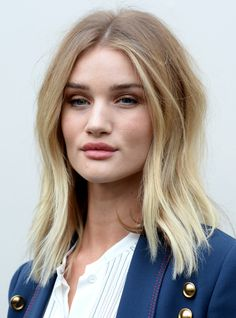 Rosie Huntington-Whiteley wearing Burberry at the Burberry Womenswear February 2016 Show at Kensington Gardens on February 22, 2016 in London