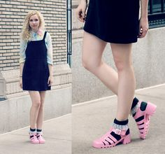 6e9a5abf1c9 strange combo but I think jelly shoes with socks look adorable! I d wear  this!