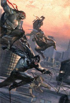 Batman / Teenage Mutant Ninja Turtles #1 Variant - Gabriele Dell'Otto