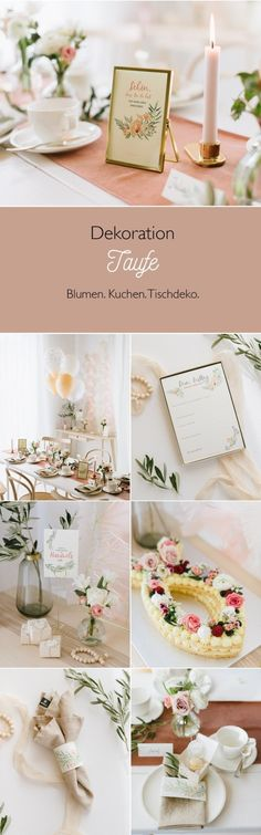 Delicate, floral decoration for a christening or welcome party - Miss K. Says Yes - Delicate, floral decoration for a christening or welcome party www.fraeulein-k-s … - Diy For Kids, Crafts For Kids, Homemade Pictures, Fleurs Diy, Welcome To The Party, Family Room Decorating, Decoration Table, Baby Room Decor, Flower Crafts