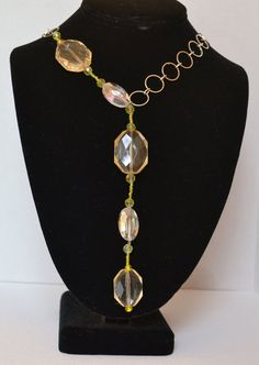 Beautiful Yellow and Clear Glass Drop Bead by TrendingFestival