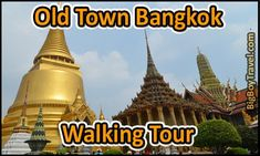 Bangkok Old Town Walking Tour Map for a do-it-yourself guided walk in Rattanakosin. This Bangkok Thailand tour is complete with a free printable map for the Grand Palace, Wat Pho, Emerald Buddha, and Wat Arun Temples with an easy to follow route.