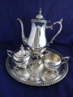 Reserved for Chris-Vintage Leonard Silver Plated Victorian Tea Set ...