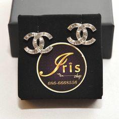 ต่างหู Chanel Earrings CC Crystal ของใหม่พร้อมส่ง‼️ - Iris Shop