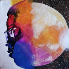 Man on the Moon: The End of Day (Kid Cudi) Inspired Canvas Album Cover Art