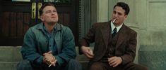 Leonardo DiCaprio as Teddy Daniels, and Mark Ruffalo as Chuck Aule [Shutter Island, 2010]