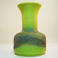 West german pottery mid century ceramic fat lava vase by Jasba in mint condition