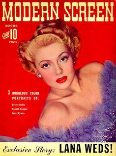 Modern Screen magazine October 1942 with Lana Turner