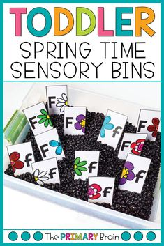 Spring toddler sensory bins are so fun for a 2 to 3 year old child. Engage your child in learning through flower toddler activities, fine motor for preschoolers, preschool math lessons, toddler lesson plans, and gross motor activities for 2 year olds. All activities can be found in my Flower Toddler School Curriculum. Activities For 2 Year Olds, Gross Motor Activities, Literacy Activities, Preschool Activities, Toddler School, Tot School, Toddler Sensory Bins, Lesson Plans For Toddlers, Preschool Math