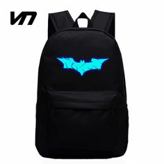 VN Brand Batman Backpack Super Hero Spiderman Bags For Boys Girls School Backpacks Kids Best Gift School Bag Children Backpack