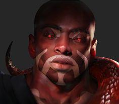 Beast Master Avatar Male, Edgar Cardona on ArtStation at https://www.artstation.com/artwork/l5PkJ