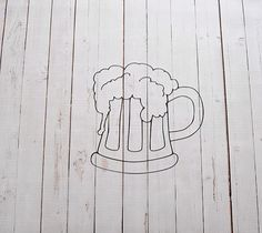 Vinyl Wall Decal Beer Mug by Msapple on Etsy