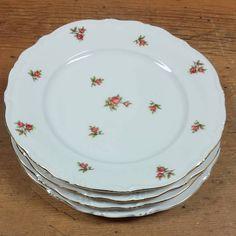 Set of 4 Dessert/Salad Plates Rosebud by Winterling