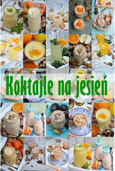 Koktajle na jesień Smoothies, Meal Prep, Drinking, Recipies, Food And Drink, Cocktails, Health Fitness, Meals, Dishes