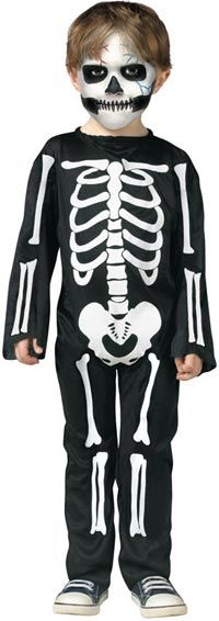 Scary Skeleton Toddler Costume allfancydress.com