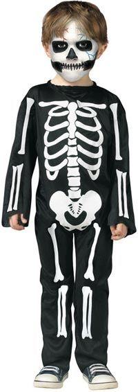 Scary Skeleton Toddler Costume allfancydress.com