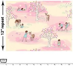 Wee Wander - Wander Woods Petal Pink - Cotton Print Fabric by Sarah Jane from Michael Miller