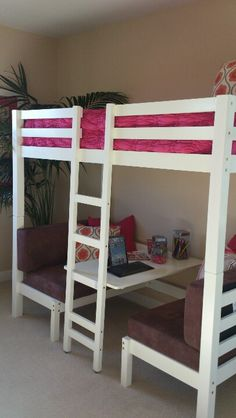 Love this for fun bunk bed idea