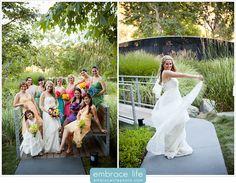 Los Angeles Wedding Photographer, bridesmaids, bridal party photos, colorful, outdoors, skirball center wedding