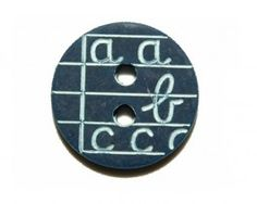abc button - a b c - marine from e-store bouillon de couture // claradeparis.com ♥
