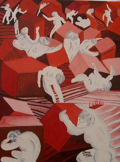 Avari e prodighi - Olio su tela - cm. 30 x 40 - Anno: 2001