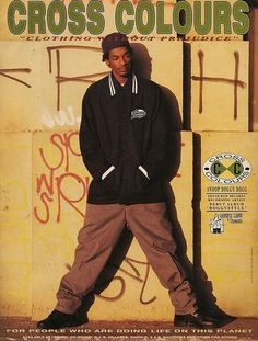 The 90 Best Hip-Hop Fashion Ads of the Cross Colours - Pinlife Online Hip Hop 90, Best Hip Hop, Hip Hop Fashion, Urban Fashion, Dance Fashion, 80s Fashion, Trendy Fashion, Style Fashion, Hip Hop Clothing Brands