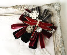 Women Bow Tie, Dance Accessories, Fabric Bows, Birthday Favors, Burgundy Color, Bohemian Style, Handmade Items, My Etsy Shop, Design Inspiration