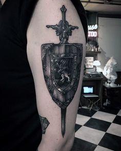 Top 70 Best Shield Tattoo Design Ideas For Men - Armor Body Art Armor Sleeve Tattoo, Armour Tattoo, Shoulder Armor Tattoo, Body Armor Tattoo, Sleeve Tattoos, 3d Tattoos, Schulterpanzer Tattoo, Crest Tattoo, Tatoo
