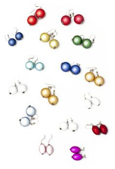 Beautiful and fun earings to add a bit of colour to your outfit! Check out my website http://shop.lindatoye.fi/ fir more jewellery