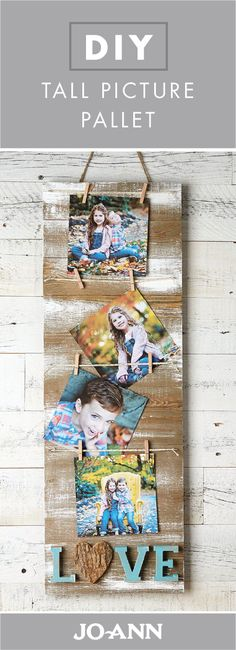 This DIY Tall Picture Pallet would be a wonderful addition to a wall in your home. Thanks to the distressed wood finish, this handmade decoration will beautifully suit the country-chic style of your space.