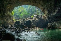 Hidden cave in Laos