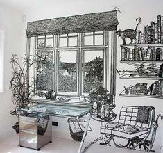 まるで別世界のような部屋を演出してくれるウォールアート「Incredibly Intricate Wall Drawings」