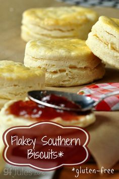 Flakey Southern Gluten Free Buttermilk Biscuits. Hard to believe they're gluten-free and dairy-free!   gfJules.com