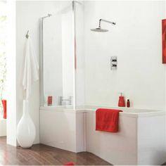 Hydrolux Shower Bath Screen for 'L' Bath