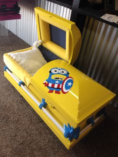 Minion - Child's Casket by Trey Ganem Designs, LLC. www.treyganemdesigns.com