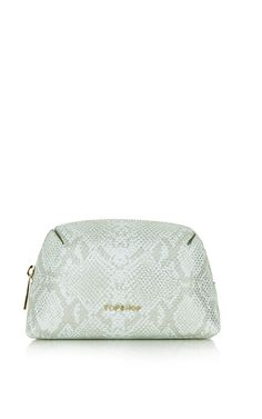Love this metallic snake-effect make-up bag - I need a new one!